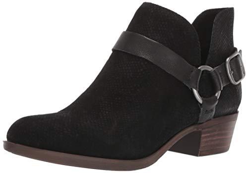 Lucky Brand Women's BERNAEH Ankle Boot, Black, 6