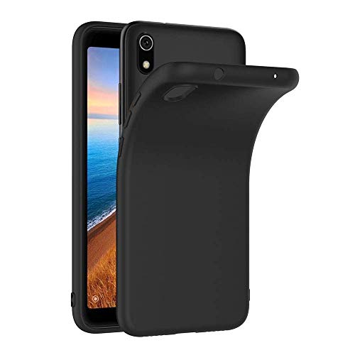 COPHONE Hülle kompatibel mit Xiaomi Redmi 7A , Schwarz Silikon Schutzhülle für Redmi 7A Hülle TPU Bumper Xiaomi Redmi 7A Handyhülle