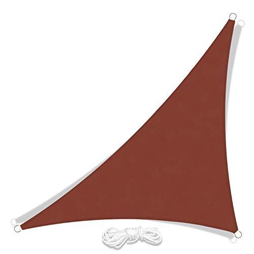 JYYnet Toldo Vela de Sombra, Triángulo Toldo Vela de Sombra Prevención Rayos UV Poliéster Toldo para Terraza Exterior Jardín(3 × 3 × 4,3 m, rojo vino)