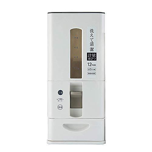 Lufttät förvaring av risbehållare BPA-fri plastmatdispenser med hjul för köksbänk eller skåp, 6 kg/12 kg kapacitet,