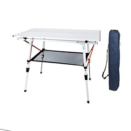 BCX Mesa plegable Mesa de picnic Mesa y sillas plegables portátiles ultraligeras para exteriores,Mesa + bolsillo de red