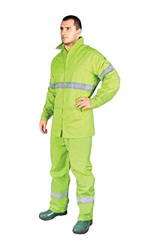 Amarillo Alta Visibilidad impermeable nuevo impermeable chaqueta pantalones Juego de hombre abrigo de lluvia alta visibilidad XL