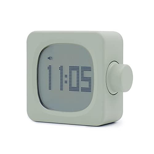 yywl Reloj Despertador Mini LED Digital Reloj de Alarma Digital Lindo Silent Square Subir Ligero Reloj de cabecera Horloge Numerique Decoración de Escritorio (Color : Green)