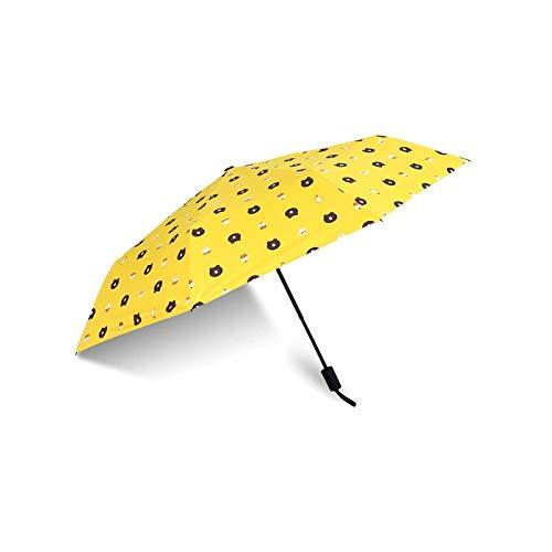 GYHJG Regenschirm Vinyl Sun Umbrella Student Kleiner, Frischer Taschenschirm Vollautomatischer Federregenschirm