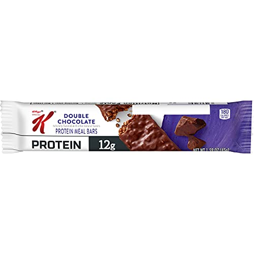 Kellogg's Special K Protein Bars, Double Chocolate, School and Office Snacks, Meal Replacement (20 Bars)