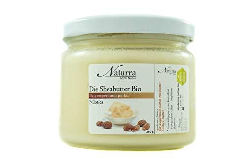 Naturra Bio Sheabutter Nilotica unraffiniert kaltgepresst 250g Glas Rohware frisch
