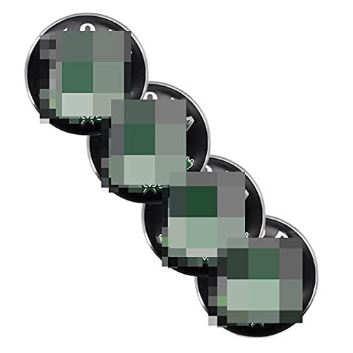 GAOJIA 4 pegatinas para tapacubos de 65 mm, compatibles con accesorios de coche SKODA-LOGO, pegatinas modificadas para la cubierta del cubo (color A: A)