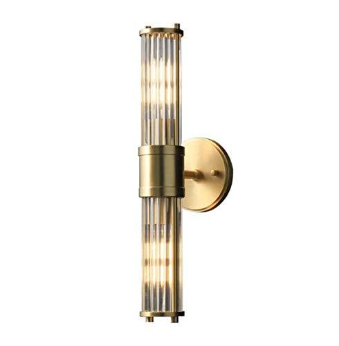 LLDKA Lámpara de Pared de Doble Cabeza Creativa Post-Moderno Dormitorio Decorativo Dormitorio Lámpara de Noche E14 * 2 Lámpara de Hierro de Cristal Cuerpo de la lámpara