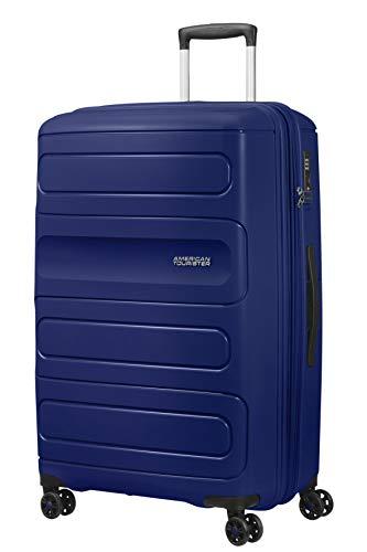 American Tourister Sunside - Spinner L Erweiterbar Koffer, 77 cm, 106/118 L, Blau (Dark Navy)