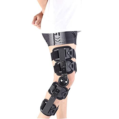 WANGXNCase Rodillera ROM con bisagras, Rodillera postoperatoria para estabilización de recuperación, estabilizador de Soporte ortopédico médico Ajustable después de la cirugía, tamaño Universa