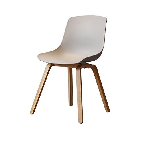 Northern Simple Oak Breakfast Holz Barhocker mit Grau Thicken Plastic Sitz und Rückenlehne Bar Chair Erwachsenen Esszimmerstuhl Coffee Chair Multifunktional Office Chair Haushalt