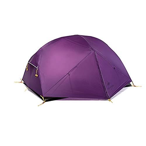 MissLi Tienda De Campaña De 3 Estaciones 20D Nylon Doble Tienda Impermeable (Adecuado para 2 Personas) (Color : Purple)