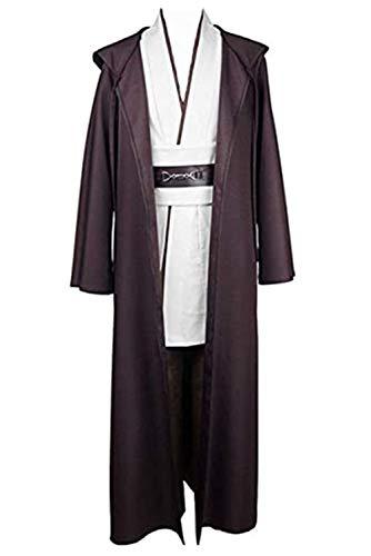 helymore Disfraz de Guerrero Medieval para Hombres Disfraz de Soldado Caballero Conjunto Completo Negro/Marron