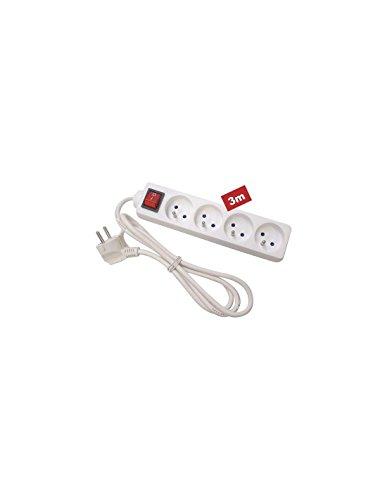 Perel Eb4s-3Steckdosenleiste 4-fach, mit Schalter, Kabel 3m