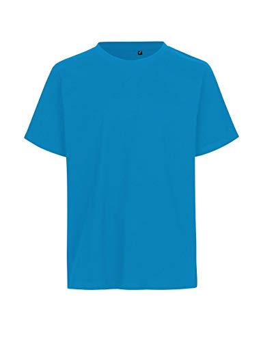 Green Cat - Camiseta regular, 100% algodón orgánico. Certificado de comercio justo, Oeko-Tex y Ecolabel., azul zafiro, M