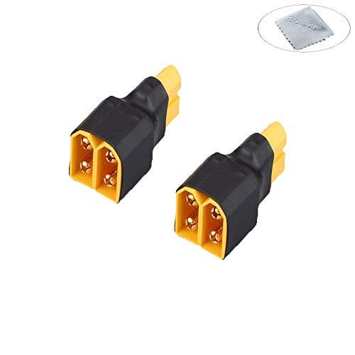 Boladge 2-Pack Enchufe de Conexión en Paralelo XT60 Adaptador Conector Paralelo 1 Enchufe Hembra XT60 a 2 Enchufe Macho XT60 para Batería RC Lipo
