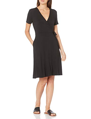 Amazon Brand – Amazon Essentials Women's Cap-Sleeve Faux-wrap Dress
