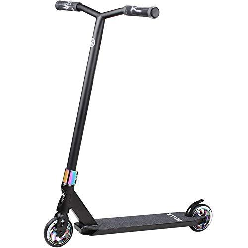 VOKUL Pro Stuntscooter BZIT K1- Roller für 7 Jahre und älter - Kinder & Teens & Erwachsene, Stunt Scooter mit 110mm PU Räder Tretroller Freestyle Roller Tricks Geschenk (Bunt+ Neo)