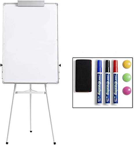 Marble Field 24'' x 36'' Dry Erase Easel Tripod Whiteboard, Magnetic Dry Erase Board/Flipchart Easel Whiteboard, Height Adjustable Stand