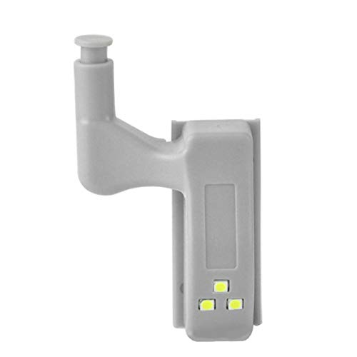 Preisvergleich Produktbild LED-Scharnierlicht Intelligenter Induktionsschrank Licht Berührungssensor Lichtschrank Lichtsensor 3Led Night Light-Weiß (BCVBFGCXVB)