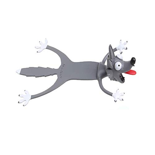 Wacky Bookmark Palz-3d Stereo Kawaii Cartoon Bookmark, 3D Animal Stereo Bookmarks - Prepare for Kids Squashed Novelty Cute Book Marks, The Modeling of Mongolian Wolf