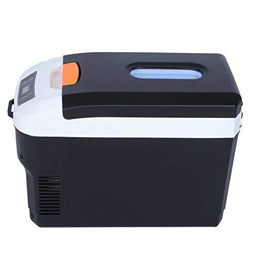 LIXUDECO Mini Nevera 10L portátil Inteligente Pantalla Digital Calentador refrigerador refrigerador casero Oficina Cigarrillo Encendedor 12v / 24v refrigerador frío (Plug Type : US)