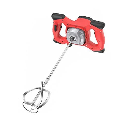 Mezclador de mortero de hormigón Cemento Yeso Handheld eléctrico Taladro herramienta de agitación del mezclador 2100W eléctrica roja Herramienta de mano