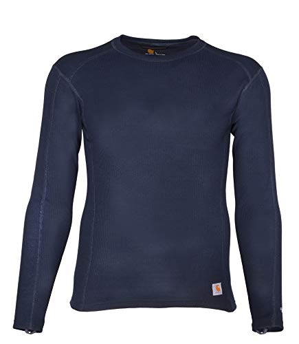 Carhartt Men's Base Force Midweight Classic Crew, Navy, Large