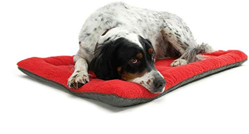 Dog Mat Pet Cushion,Dog Cat Sleeping Cushion Mattress Bed,Soft Fleece,Rectangular,Warm Sleeping Bed Dog Sofa,Comfort Kennel Mat Fit for Dog Cage and Car