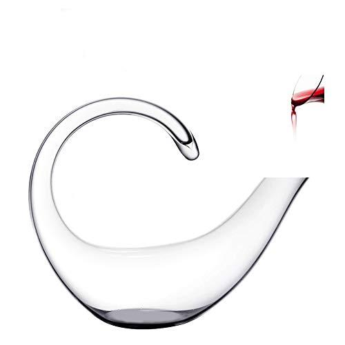 AJMINI Wijn Decanters Karaf 1000ML Scorpion Vorm 100% Handgemaakte Rode Wijn Aerator Decanter Lead Gratis Kristal Glas Karaf (1000ML)