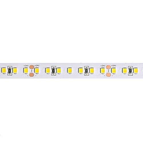 Eurekaled - Tira LED A+ de 5 m, 72 W, 8000 lúmenes, 24 V, 110 lm/W, bobina de 600 LED chip 2835, no impermeable IP20 (luz cálida 3000 K).