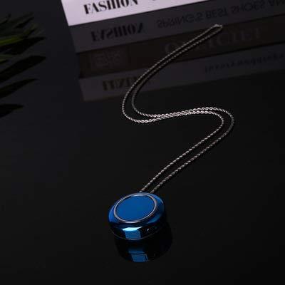 Purificatore d'aria agli ioni negativi indossare una piccola collana, appendere al collo, mini purificatore portatile (blu)