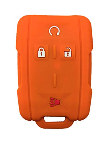 KAWIHEN Silicone Key Fob Case Cover Protector For 2014 2015 2016 2017 Chevrolet Chevy Silverado Colorado Tahoe Suburban Gmc Yukon Sierra 13577770 2288148 M3N-32337100
