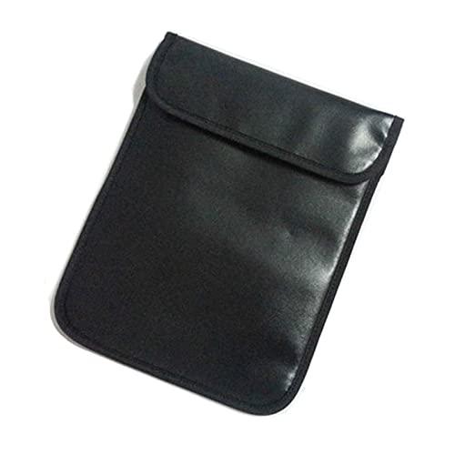 HSGAV Bolsa Blindaje Senal RFID,Escaneo Anti-Seguimiento De Posicionamiento GPS De Señal De Teléfono Móvil con Protección Antirradiación De Doble Capa,Negro