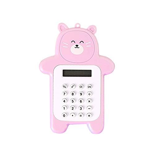 Aibecy Calculadora electrónica de 8 dígitos Bear Compact Mini calculadora de mano portátil ligera para estudiantes Oficina de la escuela en casa