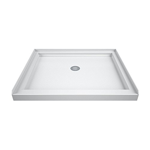DreamLine SlimLine 32 in. D x 32 in. W x 2 3/4 in. H Center Drain Single Threshold Shower Base in White, DLT-1132320