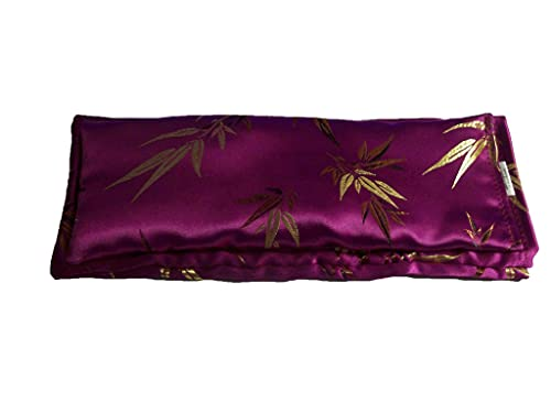 (Take Two Pillows) One Weighted Flaxseed Eye Pillow Scented with Lavender Buds. (10 x 4 x 1 inches). Don't take Pills! Take Pillows!