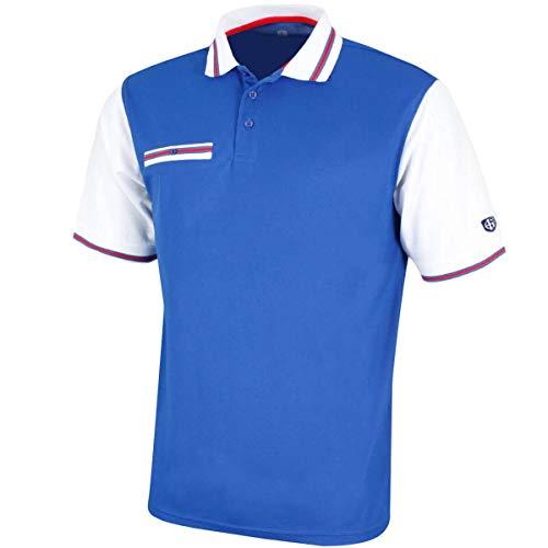 Island Green - Golf-T-Shirts für Herren in Blau/Weiß, Größe M