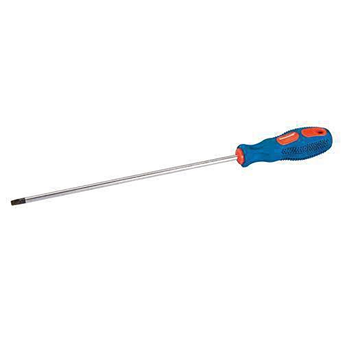 Silverline Tools 244806 - Destornillador universal de punta plana (5 x 100 mm) Multicolor