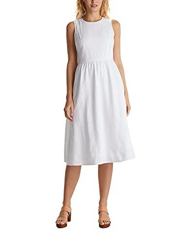 ESPRIT Sukienka damska, 100 / biały, 34 PL