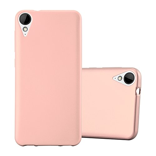 Cadorabo Hülle für HTC 10 Lifestyle/Desire 825 - Hülle in METALLIC ROSÉ Gold – Handyhülle aus TPU Silikon im Matt Metallic Design - Silikonhülle Schutzhülle Ultra Slim Soft Back Cover Case Bumper