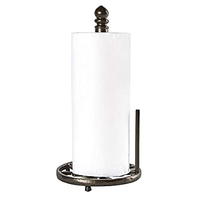JOGREFUL Decorative Paper Towel Holder Stand, Vintage Cast Iron Roll Paper Towel Stand, Easy One-Handed Tear for Kitchen Countertop Bathroom Home Decor