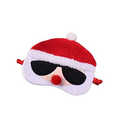 Elk Deer Augenmaske, Comic, Plüsch, Schlafmaske, Augenmaske, Eyepatch Christmas Eyeshade