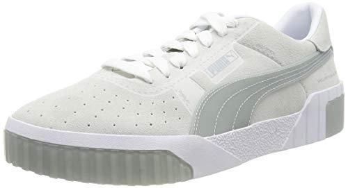 PUMA Damen Cali Patternmaster WN's Sneaker , Weiß (Puma White-Quarry 01) , 38.5 EU
