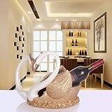 HJXSXHZ366 Estante de vino montado en la pared de estilo europeo y europeo, estante de vino pequeño botellero (color romántico blanco naranja)