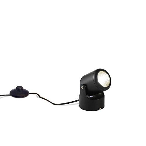 Kiven 7 Watt 5.12' High Mini Accent Uplight,Foot Pedal Push Switch Inline Lamp Light On-Off Control ,Black