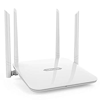 WiFi Router WAVLINK High Power Wireless Wi-Fi Router AC1200 Dual Band 5GHz+2.4Gz  Gigabit Wireless Internet Router,Long Range Coverage by 4 High-Performance Antennas