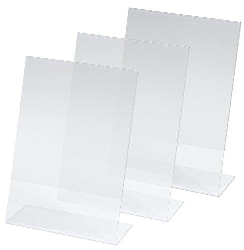 Kangaro SY112 Lot de 3 Présentoirs de table, 14,8 x 21 x 6,3 cm, acrylique transparent