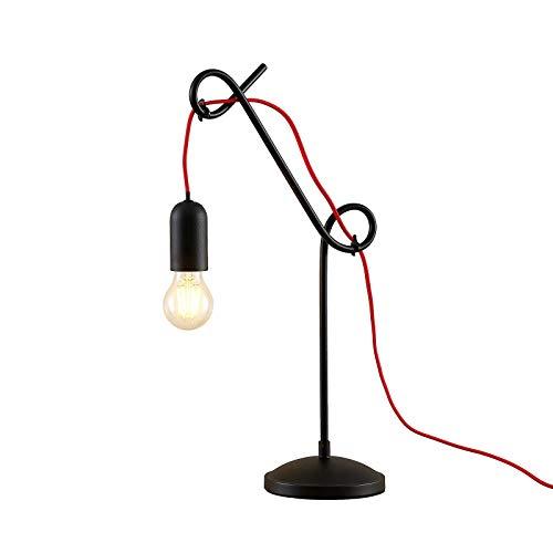 Lámpara de mesa 'Jorna' (Diseño) en Negro hecho de Metal e.o. para Salón & Comedor (1 llama, E27, A++) de Lucande | lámpara de mesa de diseño