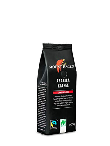 Mount Hagen Röstkaffee Arabica ganze Bohne, 250 g